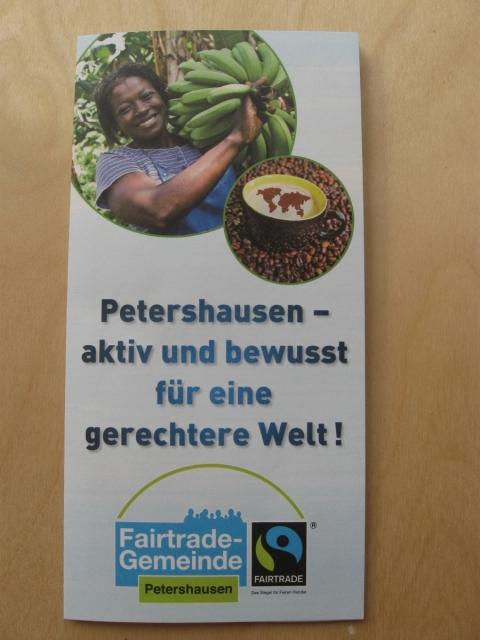Neuer Flyer: Petershausen- aktiv und bewusst für eine gerechtere Welt!
