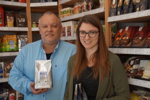 In der Schreinerei Benno Huber kommt Petershausener Kaffee zum Ausschank