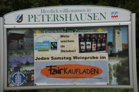 Einführung der Fairen Weinwochen in der Schreinerei Benno Huber