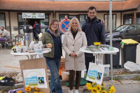Neuer Ortsverband von Bündnis 90/Die Grünen informiert an Kirchweih über die Fairtrade Gemeinde Petershausen