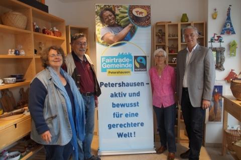 """Petershausen ist weiterhin  """"Fairtrade-Gemeinde"""""""