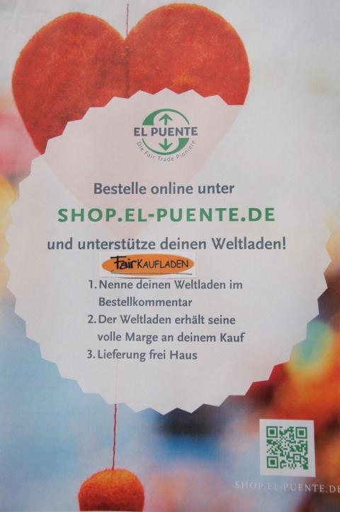 Online einkaufen und gleichzeitig den Fairkaufladen unterstützen – bei El Puente