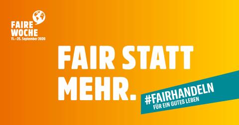 Fair statt mehr – Faire Woche 2020
