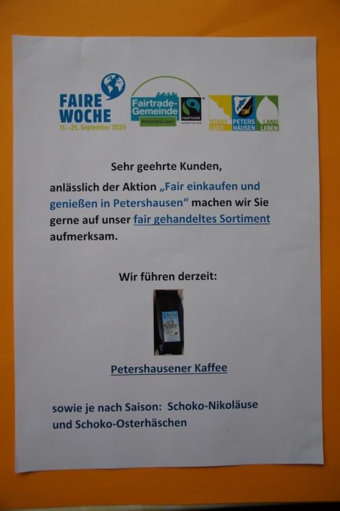 Fair einkaufen und genießen in Petershausen