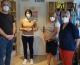Katrin Staffler, Bundestagsabgeordnete der CSU, besucht den Fairkaufladen